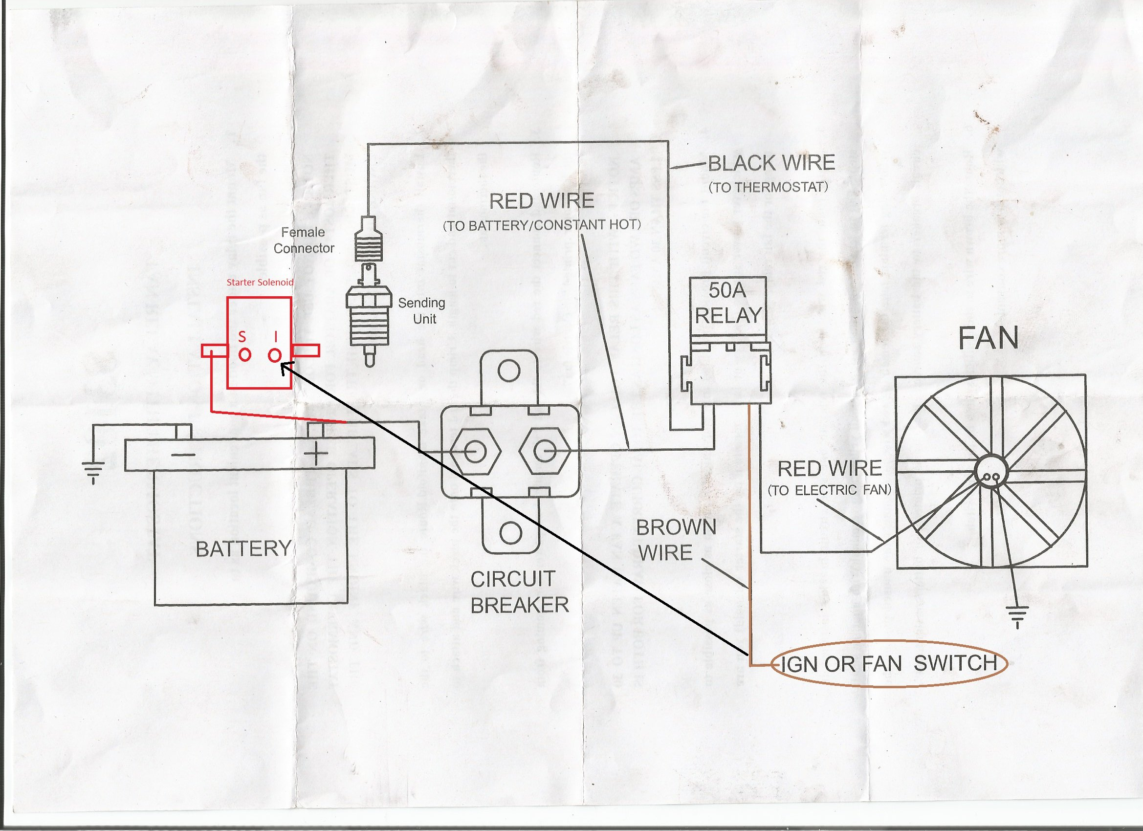 Wiring Diagram For Ford Starter Solenoid Fan Relay : 50