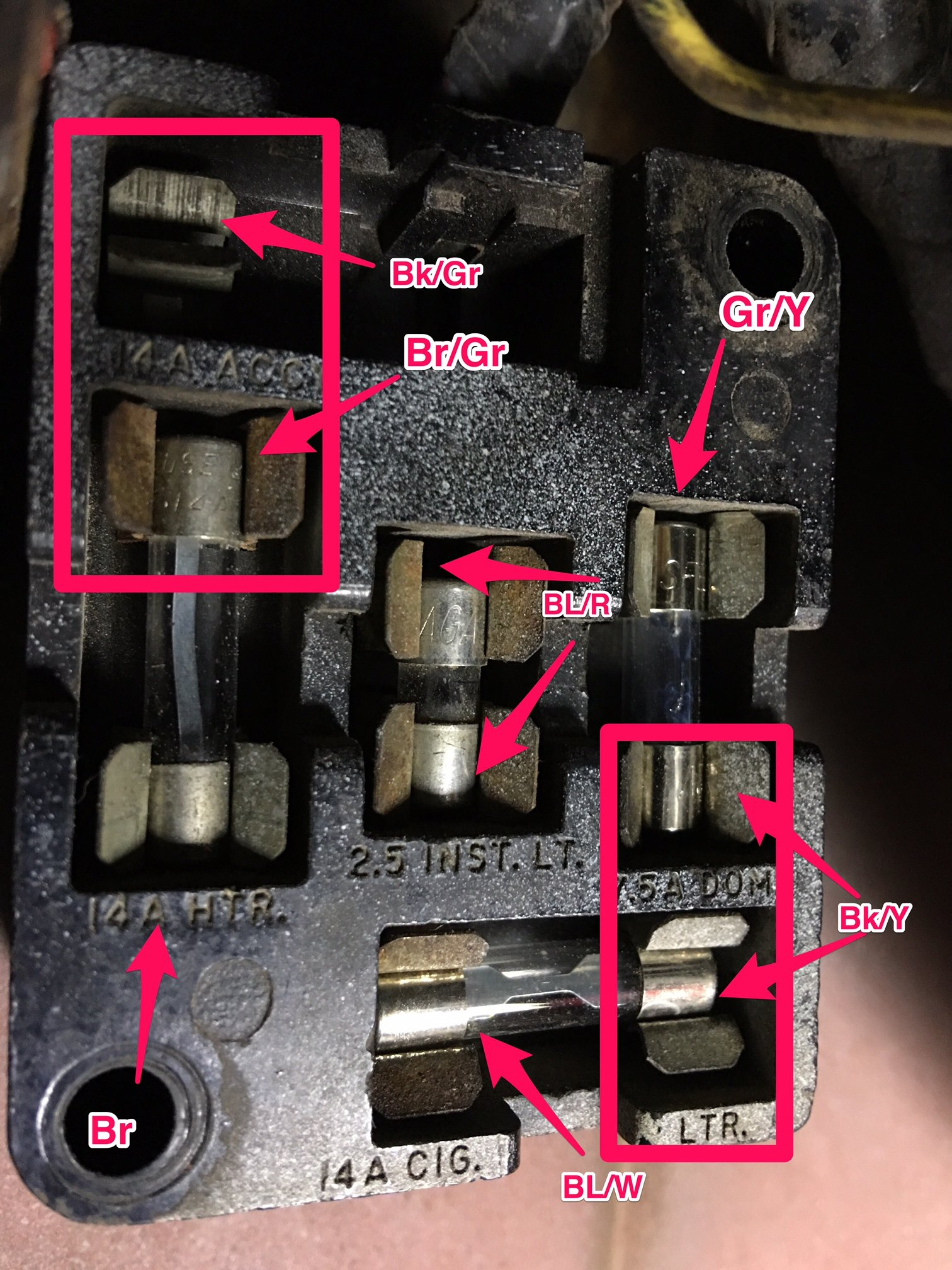 running lights circuit diagram for 700r4 trans ford mustang forum - view single post 1965 fuse panel problem