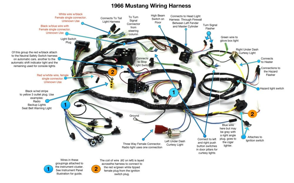 medium resolution of mustang wiring harness