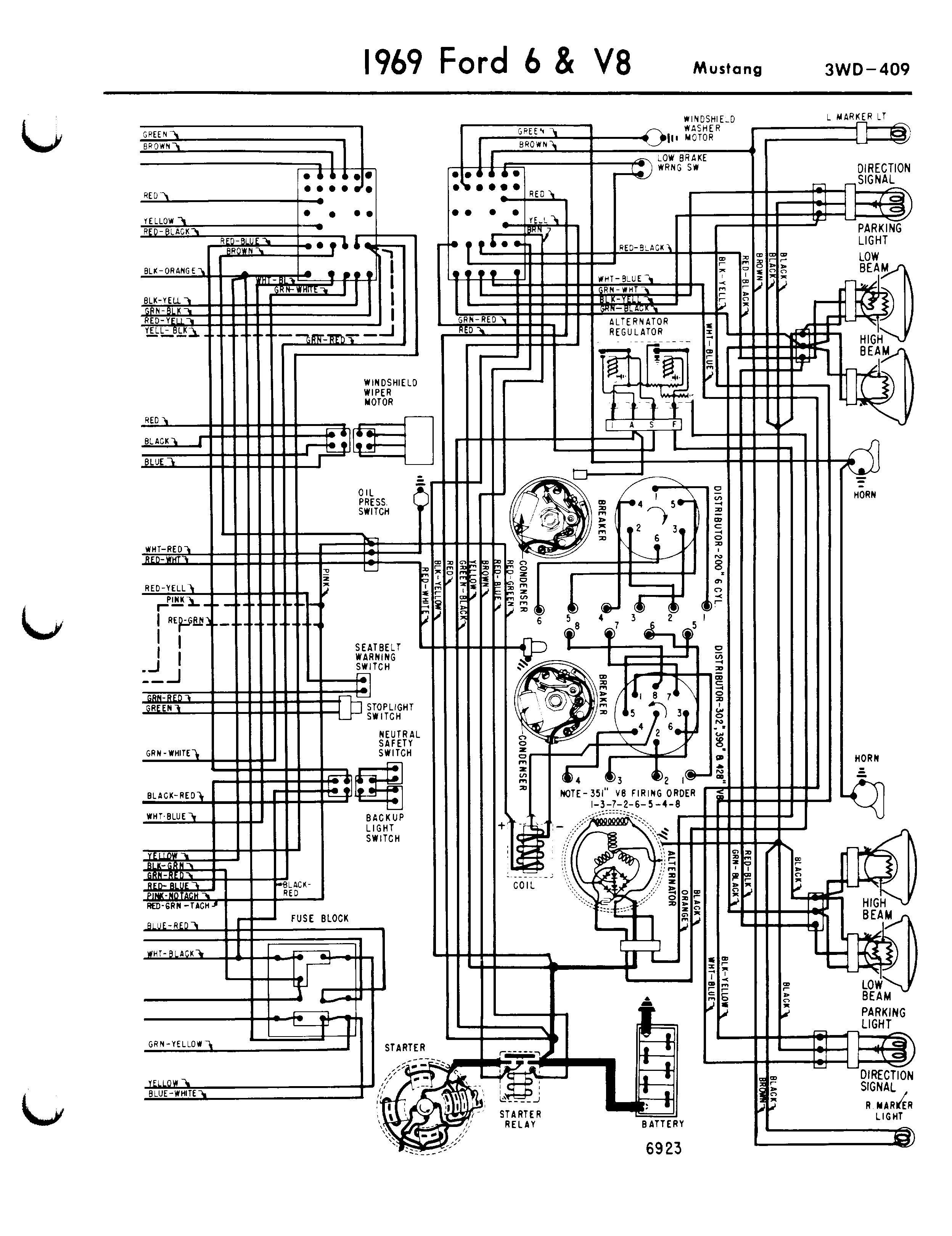 1969 ford mustang radio wiring