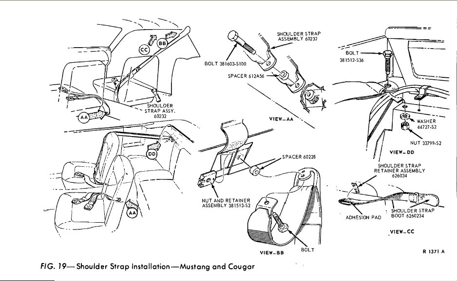 1967 Mustang Coupe/Convertible Correct Mounting Locations