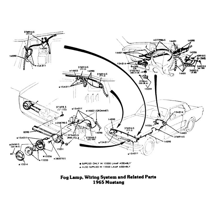 fog lamp wiring 1965 mustang
