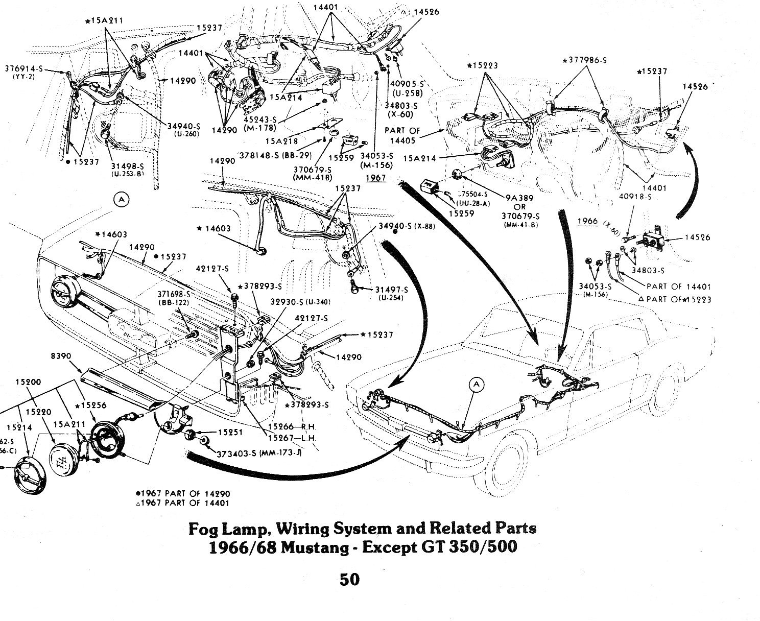 1968 mustang fog light wiring wire data