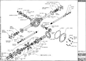 Front Axle And Differential Exploded View Diagram Pictures