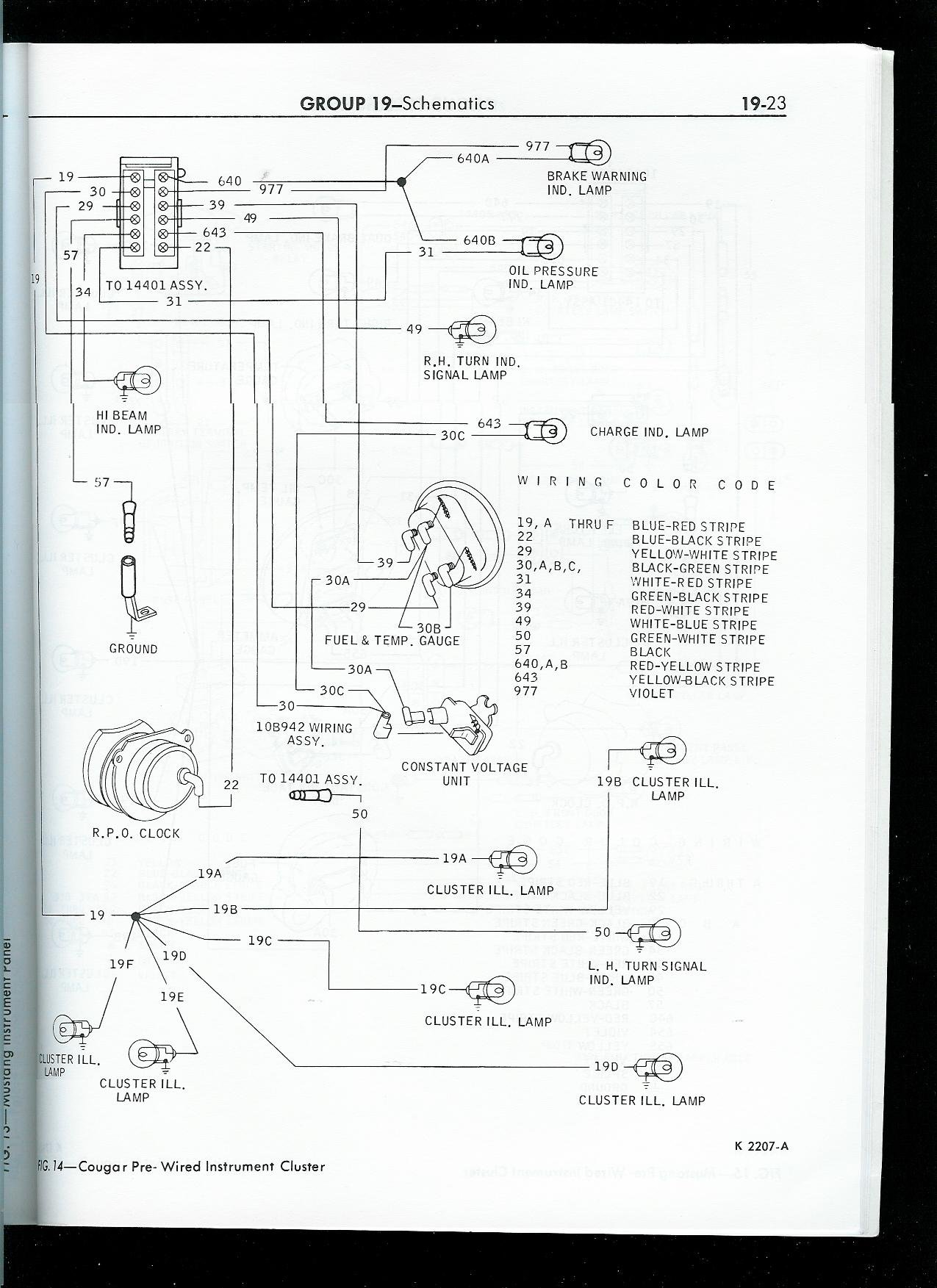 1967 Ford Mustang Classic Fuse Box Diagram