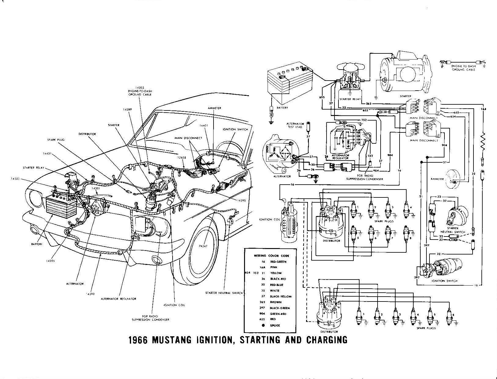 hight resolution of  85444d1260538825 voltage regulator wiring 1966 mustang ignition starting charging 66 mustang voltage regulator wiring diagram 66