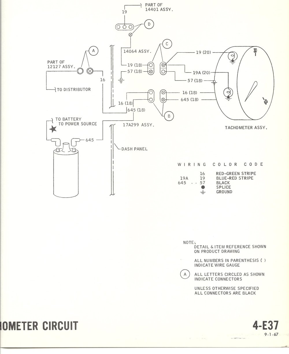 medium resolution of electric tachometer wiring wiring diagram sheetwrg 2228 electric tachometer wiring diagram 1968 mustang wiring diagrams