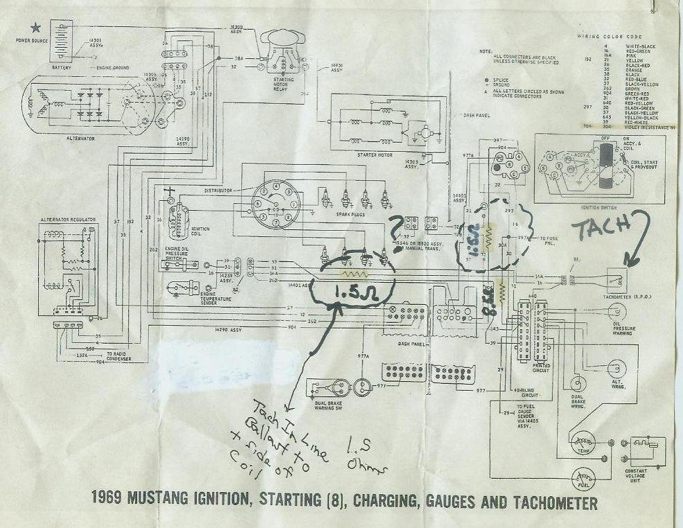 Wiring Harness For 1965 Mustang 1968 Mustang Wiring Diagrams With Tach Please Help Ford