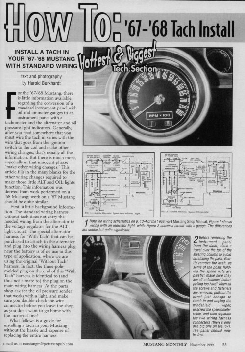 small resolution of 1968 mustang wiring diagrams with tach please help ford mustang forum sun tach wiring diagram