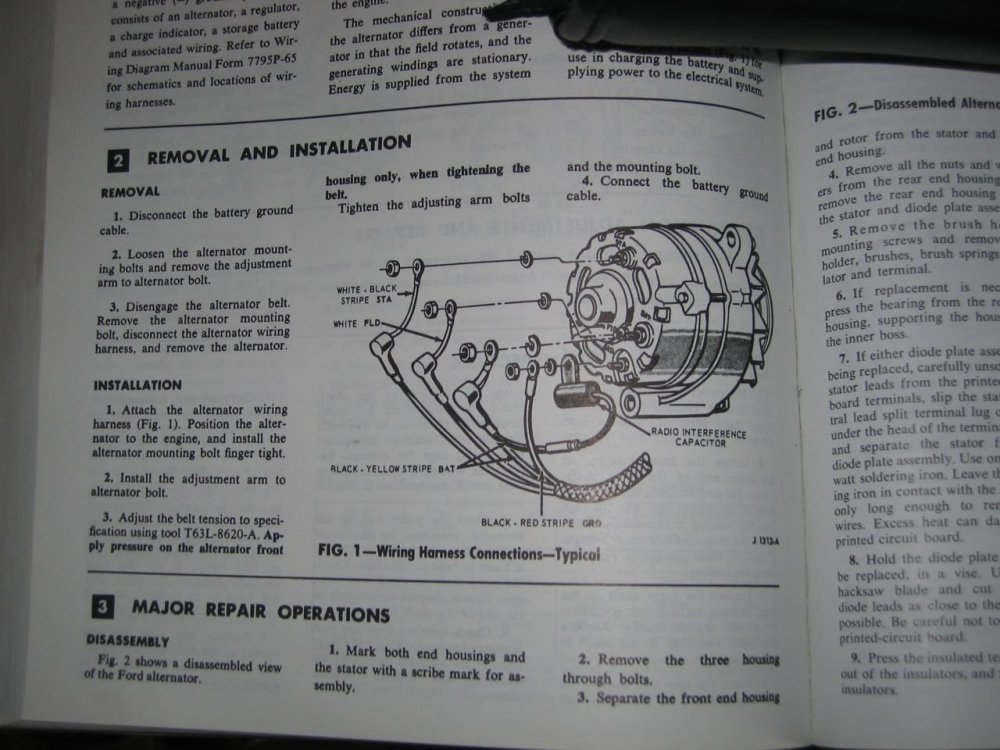 medium resolution of 1966 mustang alternator wiring diagram