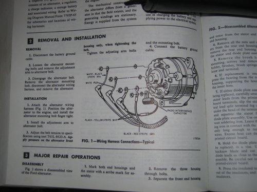 small resolution of 1966 ford alternator wiring