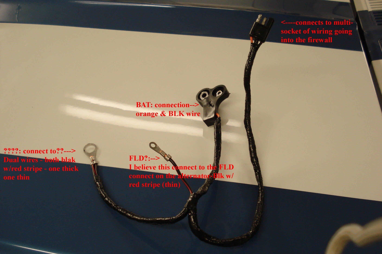 ford mustang alternator wiring