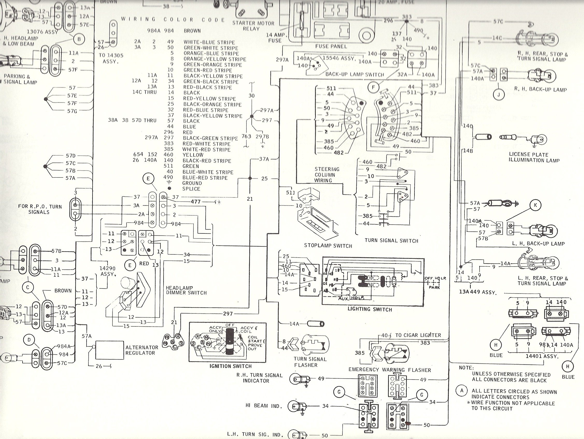 68 mustang turn signal wiring diagram