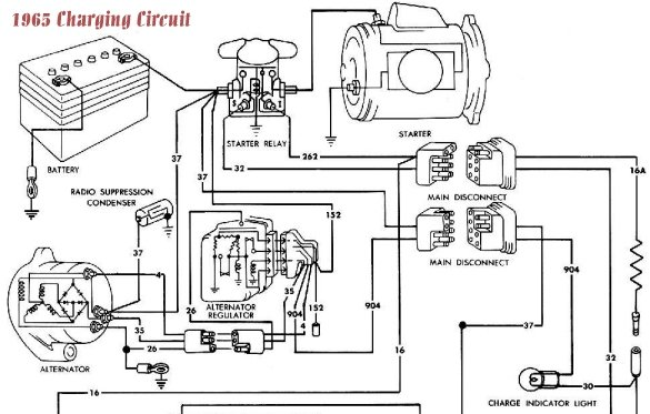 1965 Ford Mustang Wiring Diagram. Schematic Diagram