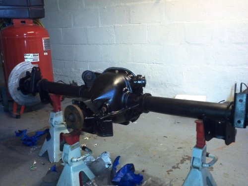 small resolution of 7 5 to 8 8 rear end swap actually done img 20130502 153954 jpg