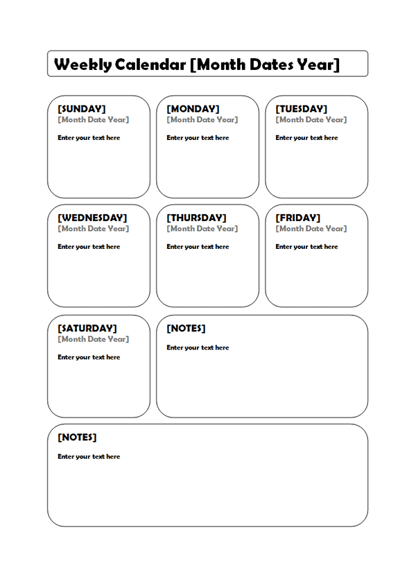 template for weekly calendar