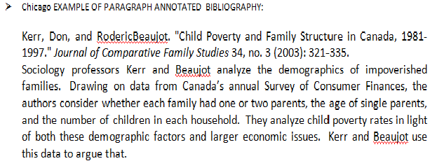 Examples Of Chicago Annotated Bibliography Templates: P6. P7