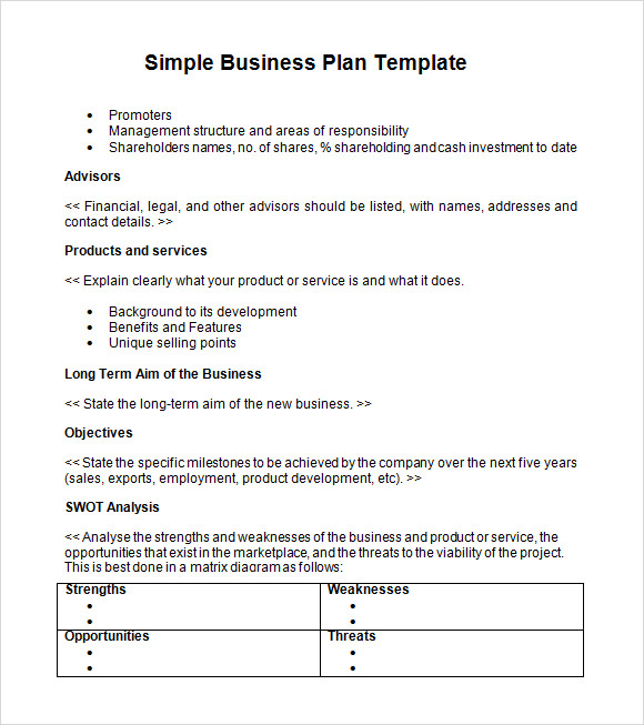 Free Business Plan Templates Samples  Formats And Examples