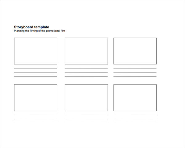 storyboard pdf 15  examples of Storyboard templates, word, PPT, and PDF Format ...