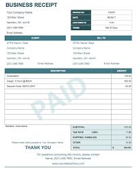receipt sheet