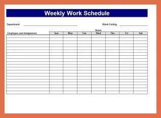 Bi Weekly Work Schedule Excel Template
