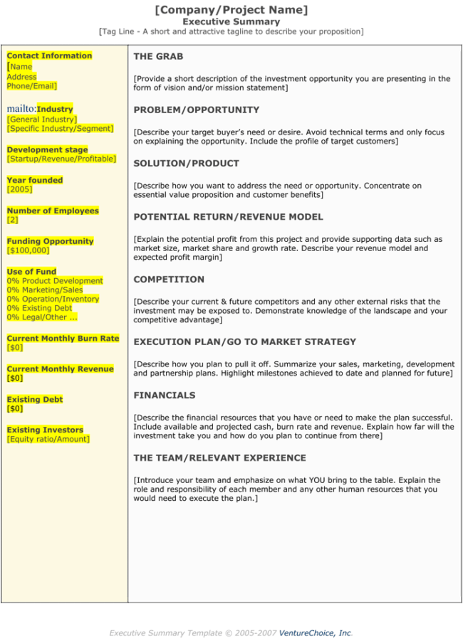 Executive summary templates 15 examples and samples for Executive summary project status report template