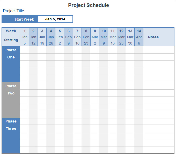 schedule spreadsheets