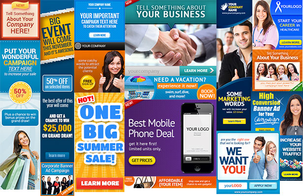 Free Ad Banner Templates Designs Business Ad Banner Templates - Display ad templates