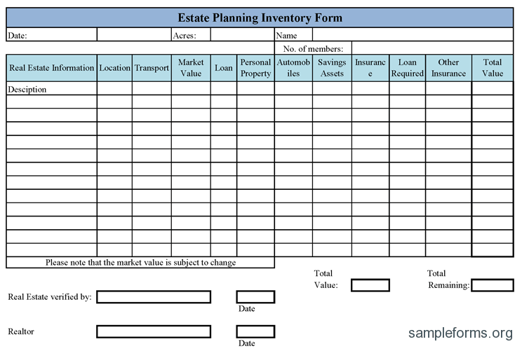 personal property inventory form excel