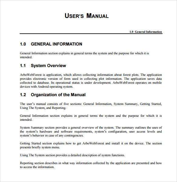 User Manual Template