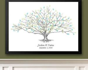 low oak tree thumbprint