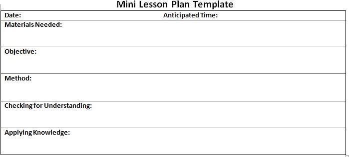 mini lesson plan