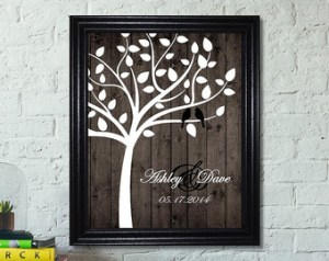 wedding gift family tree