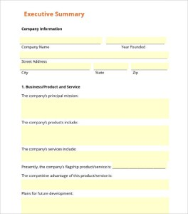 Business Summary Template