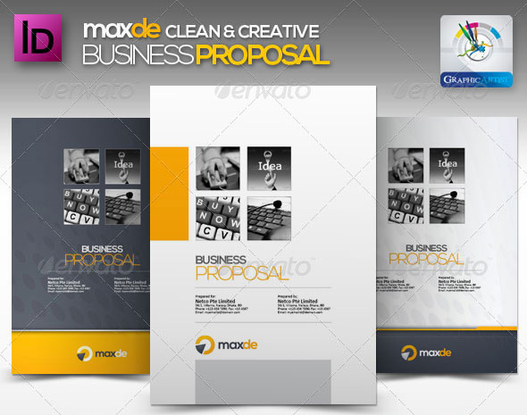 Creative Business Proposal Template  Proposal Layouts