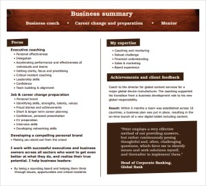 Business summary template 20 executive summary templates samples sample business summary template wajeb Image collections