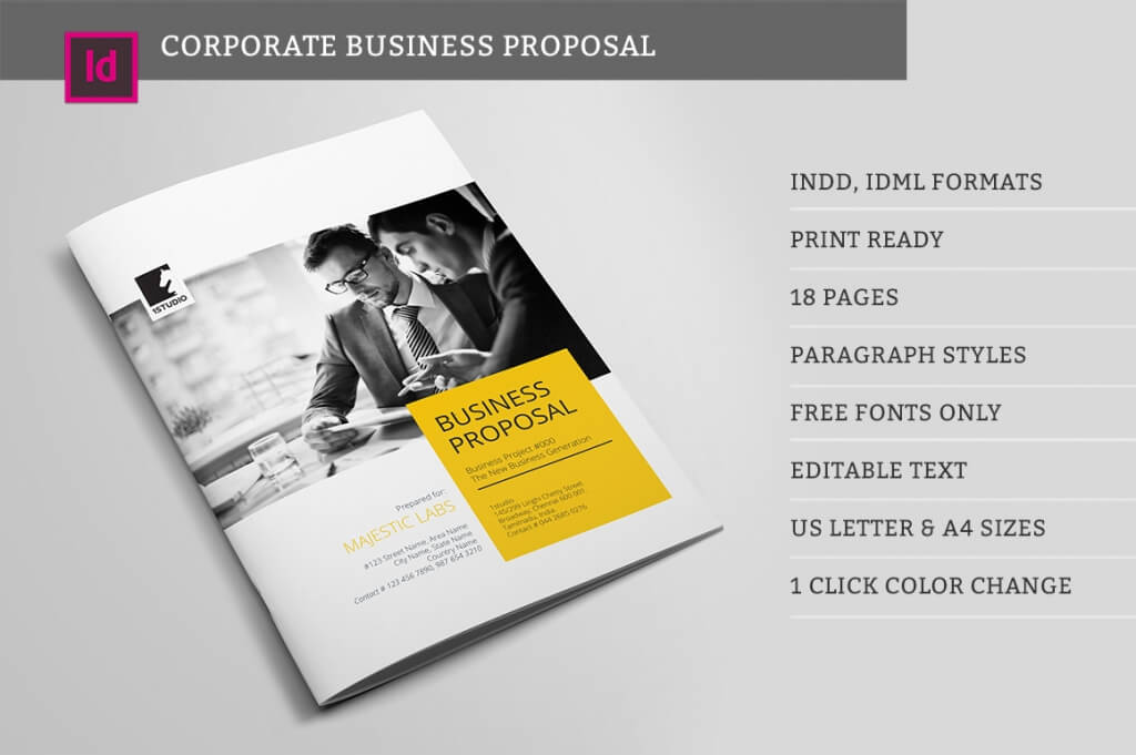 Wonderful Suisee Style Business Proposal Template  Proposal Layouts
