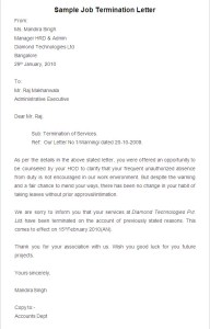 Free Printable Job Termination Letter Template