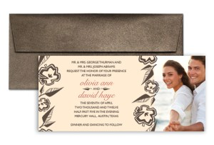 Beige Wedding Invitation Template