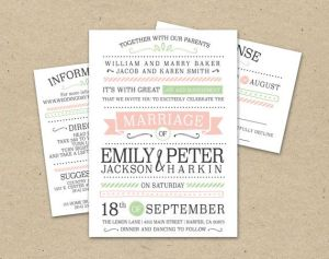 Modern Wedding Invitation Templates
