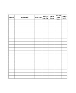Inventory control forms template