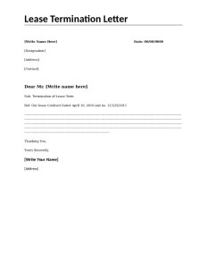 lease termination letter lease termination form all form templates