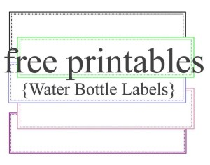 Water label templates