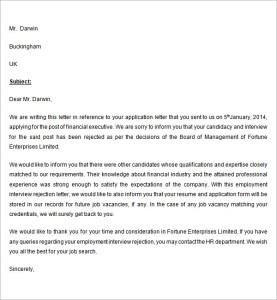 HR resignation letter