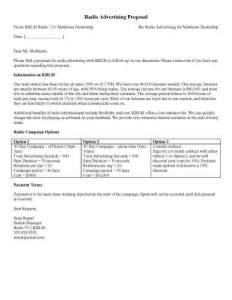 radio advertising proposal templates