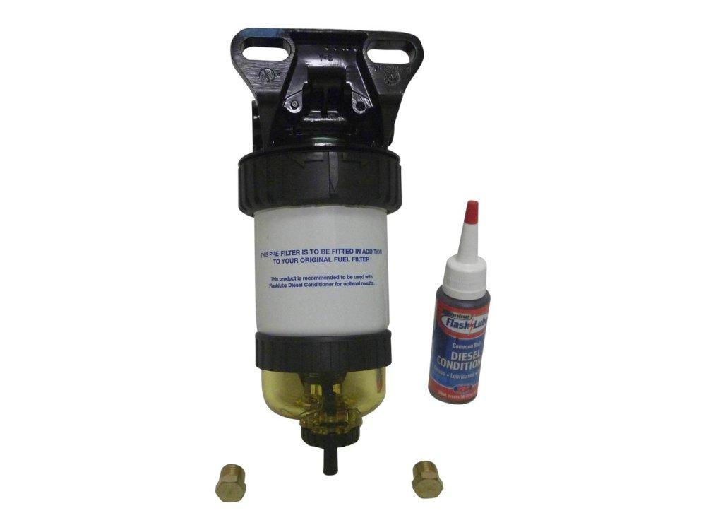 medium resolution of  flash lube diesel pre filter with water separator system 30um aftermarket fdf
