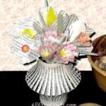 vase of paper flowers