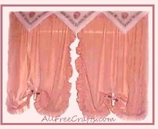 paper napkin curtain valance
