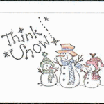 Stamped Snowman Cards