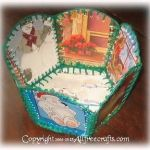 Recycled Christmas Card Basket